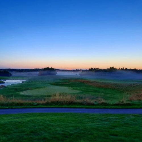 9th Hole in mist