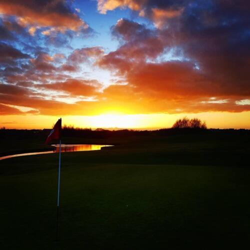 9th Tee Dramatic Sunset